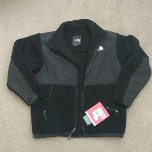 Northface Fleece Black Jacket Coat Boys L Lady S